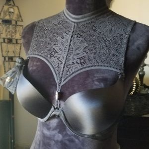 VS Very Sexy multi lace high neck halter bra